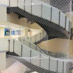 metal dikmeli uzay merdiven cam korkuluk omak paslanmaz